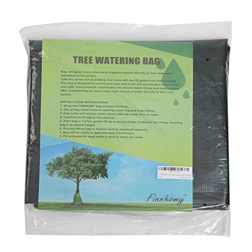 Finnhomy 3 Pack Tree Watering Bag Planting Water Bag Trees, Slow Release Root Water System, 20 Gallon Basic Water Saving Slow Release Watering Bag Tree Drip Irrigation