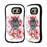 Official Monika Strigel Wolf Animals And Flowers Hybrid Case for Samsung Galaxy S6