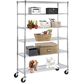 Charmant SUNCOO Wire Shelving Unit Storage Rack Metal Kitchen Shelf Stainless Steel  Adjustable 6 Tier Shelves With