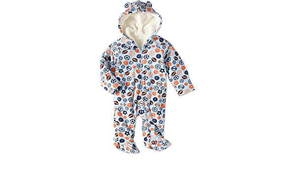 Healthtex Infant Baby Blue With Elephants Boys Fleece Pram 3-6 Month