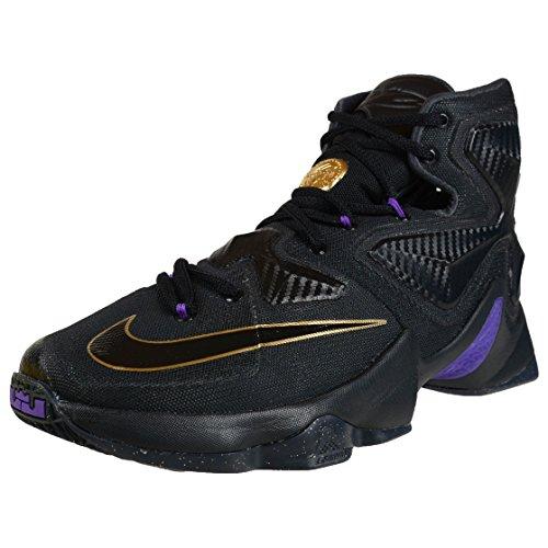 reputable site 7679e 629ba Nike Herren Lebron XIII Basketballschuhe, Talla Schwarz  Gold  Grau  (Schwarz  Schwarz