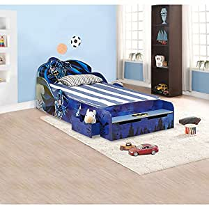 "O'Kids 0111002 Batman Kid's Bed, 31.25"" Height, 41"" Wide, 85.25"" Length, Multicolor"