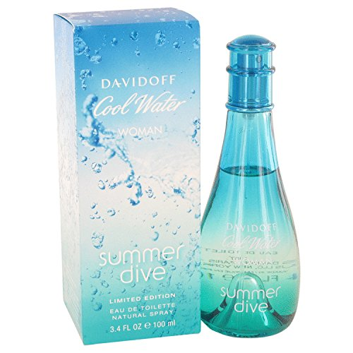 Summer Cool Water Spray (Davidoff Cool Water Summer Dive Eau De Toilette Spray for Women, 3.4 Ounce)