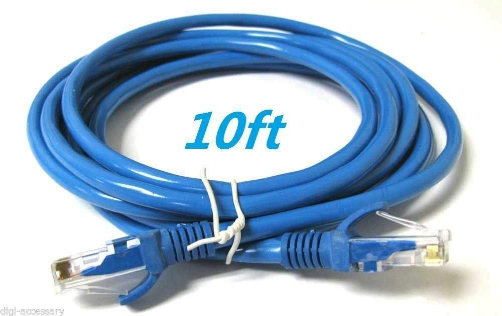 CAT6 Patch Network Cable Rj45 Ethernet 6ft 10ft 25ft 50ft 100ft 200ft lot Blue 16 FT
