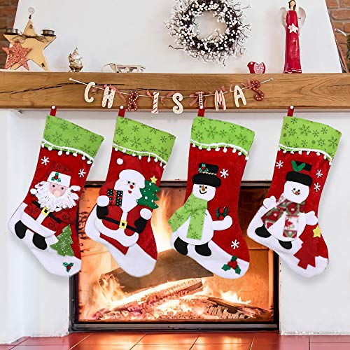 DYD Christmas Stockings, 4 Pack 18