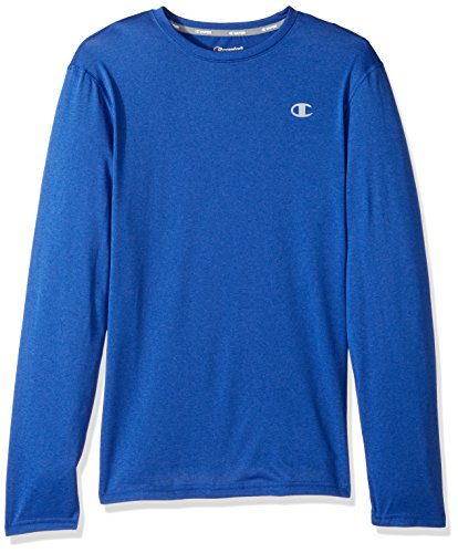 Champion Men's Double Dry Heather Long Sleeve T-Shirt, Surf The Web Heather, 2X-Large ()