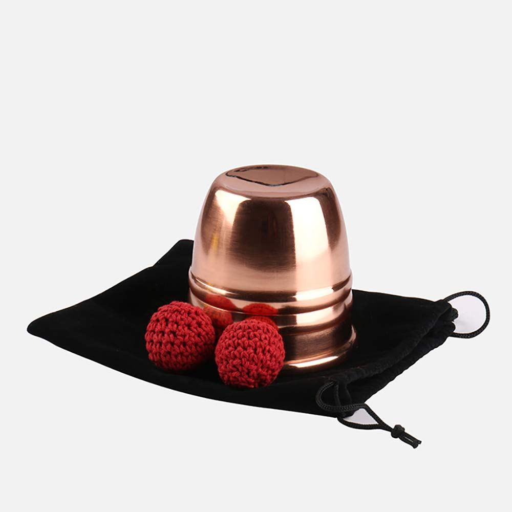 Enjoyer Chop Cup (Copper,Diamter 7cm)-Magic Tricks Cup and Balls Close Up Magic Props Magician Accessories by Enjoyer