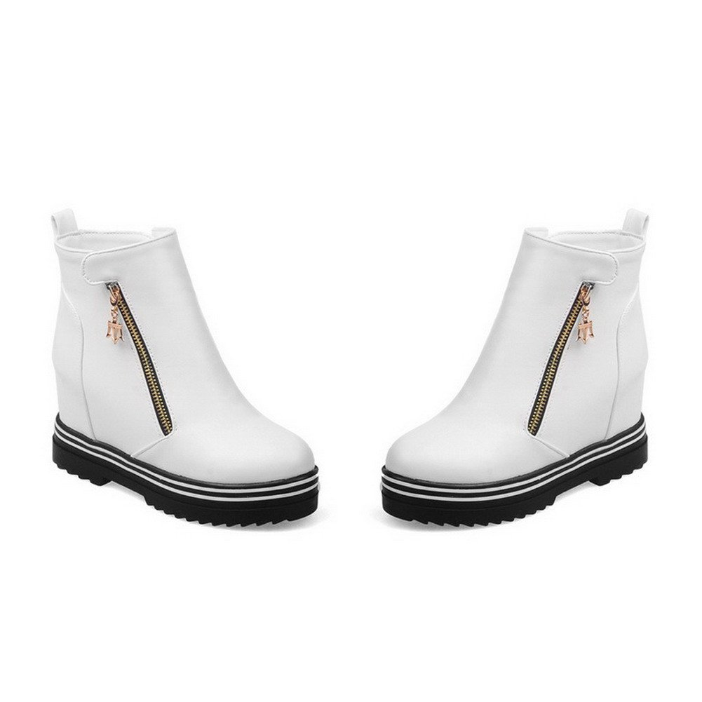 WeenFashion WeenFashion WeenFashion Women's PU Ankle-high Solid Zipper High-Heels Boots B01N0O5BLJ Platform 8fb395