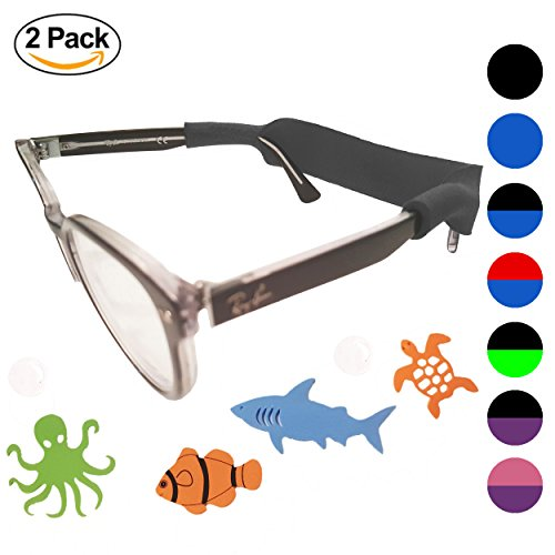 Kids Glasses Strap 2pk with Bonus Deep Sea Adventure Stickers - Eyewear Kids