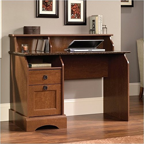 sauder-graham-hill-desk-autumn-maple-finish