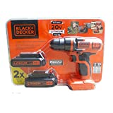 BLACK+DECKER LDX 120C 20-Volt MAX Lithium-Ion Cordless Drill/Driver with 2 Batteries