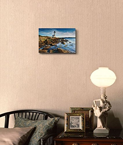Beautiful Landscape Scenery Annisquam Lighthouse by the Sea in Massachusetts Wall Decor
