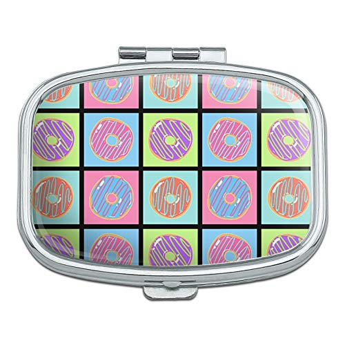 Retro Cute Yummy Donuts Pattern Rectangle Pill Case Trinket Gift - Rectangle Donut