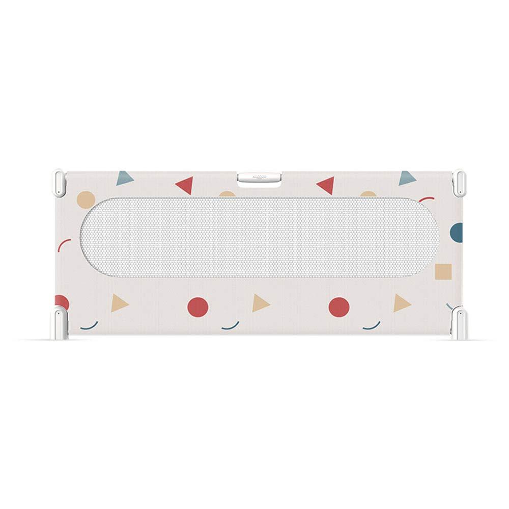 ZR- ベッドフェンス、保護フェンス子供の大きなベッドユニバーサルバッフルの高さ75 Cm、3スピード調整 (色 : Pink-150cm)  Pink-150cm B07LDY2DHY
