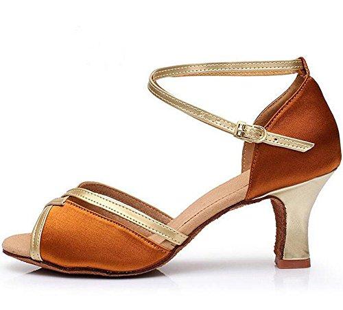 suave baile la señoras 1 de latino zapatos alto de internacional de fondo de caramelo Las mujeres de las baile KUKI zapatos color adultas de tacón 7qBZZx