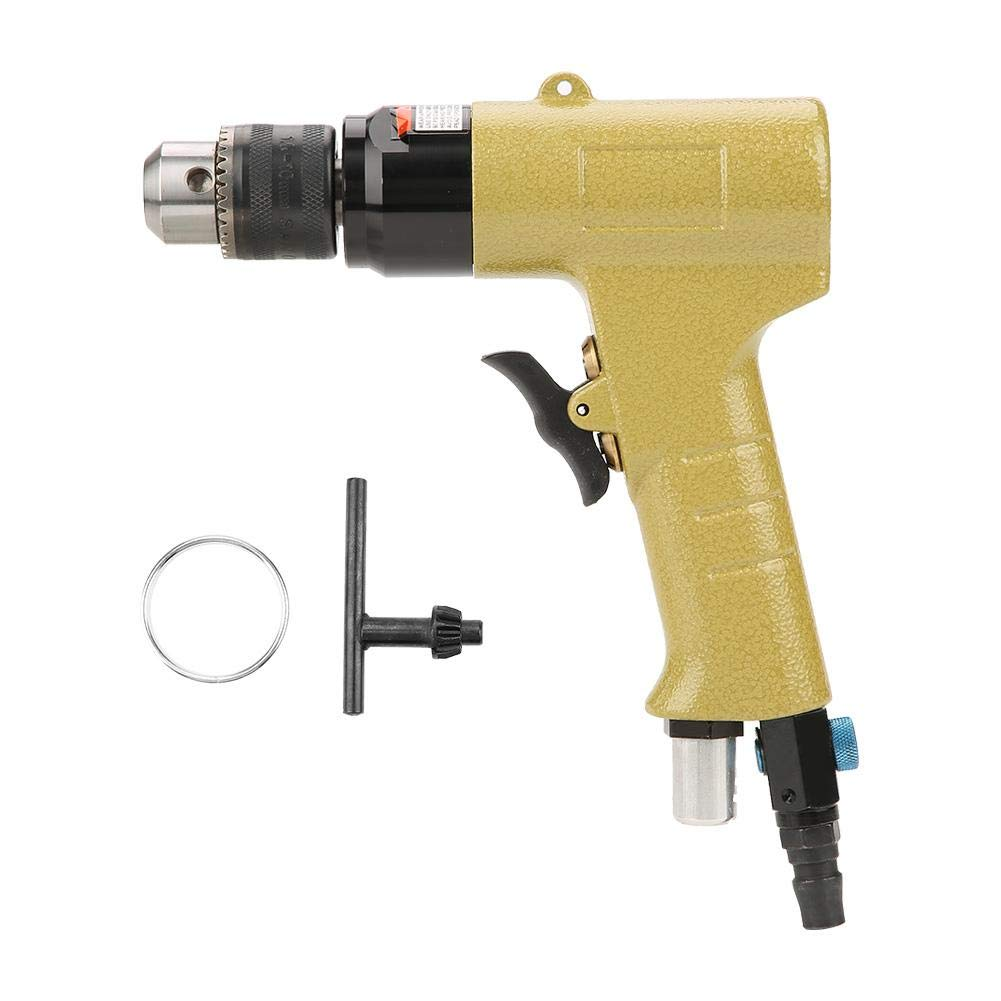 Pneumatic Drill,1400rpm 3/8 3.18mm Handle Type Reversible CW/CCW Air Drill Variable Speed Engraving Grinder with Hangable Hook Pneumatic Drilling Tool