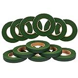 Cinta floral verde para arreglos y manualidades (paquete de 12)
