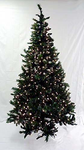 Northlight Pre-Lit Frosted Mixed Green Pine Artificial Christmas Tree with Clear Lights, 6.5'