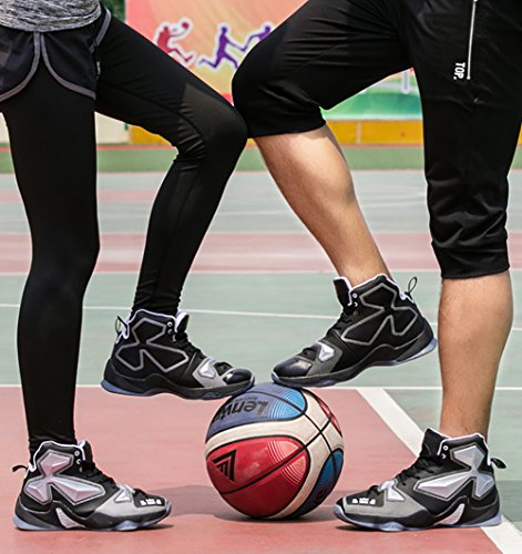 No.66 Town Couple Men's Women's Shock Absorption Running Shoes Sneaker,Basketball Shoes Silver