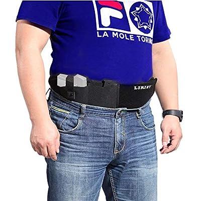 LIRISY Belly Band Holster for Concealed Carry, Neoprene Waist Band Handgun Carrying System, Elastic Hand Gun Holder for Pistols Revolvers for Men and Women