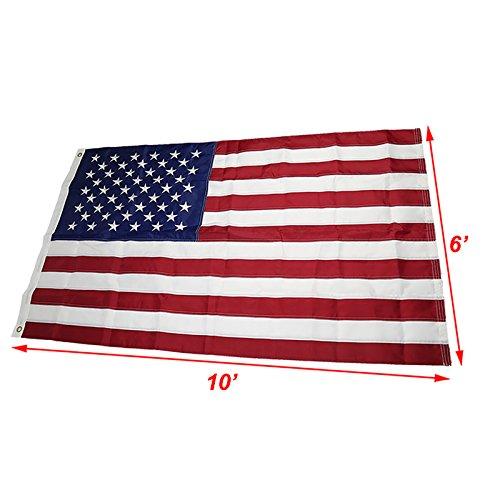 Embroidered Nylon American Flag - 9