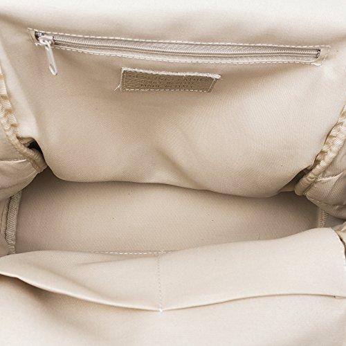 FIRENZE ARTEGIANI Ledertasche Rucksackhandtaschen MADE IN ITALY. AUTHENTISCHE ITALIENISCHE HAUT 29x34x14 5 cm. Farbe: Taupe