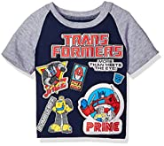 Transformers Toddler Boys' Patch Short Sleeve T-Shirt