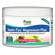 Pure Essence Ionic-fizz Magnesium Plus, Raspberry Lemonade, 171-Grams