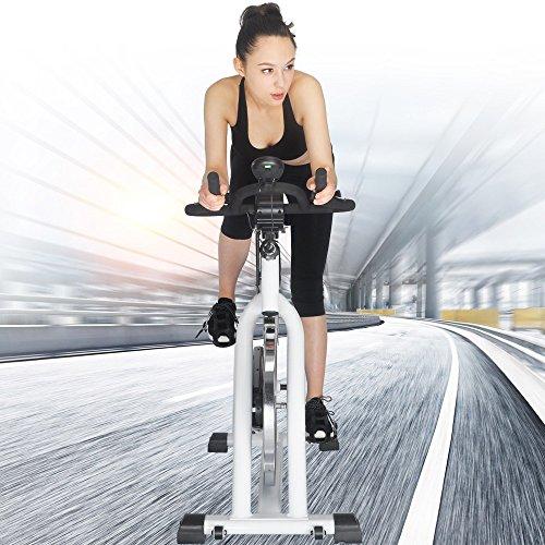 Crystal SJ-32411Home Use Exercise Bike Spin Bike Spinning Bike Fitness Equipment White
