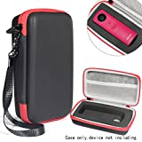 WGear Protective Camera Case by, applicable for Ricoh Theta S, V 360 and Theta SC 360 Degree Spherica, Customized Dense Absorbing Sturdy Foam Inlay, Mesh Pocket Inside Matte Black+Red Zip