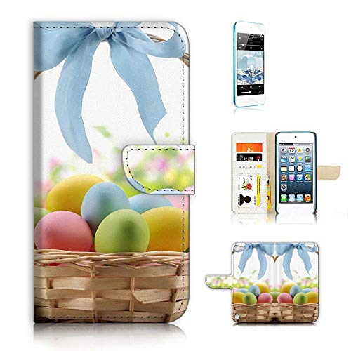 (for iPod Touch 5 6 / iTouch 5 6) Flip Wallet Case Cover & Screen Protector Bundle - A21754 Easter Egg
