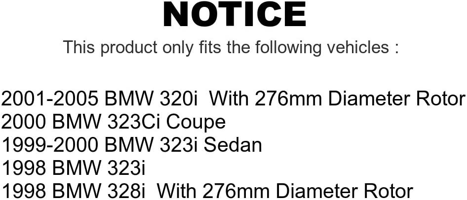Rear Disc Brake Rotors Pair For BMW 323i 323Ci 328i 320i