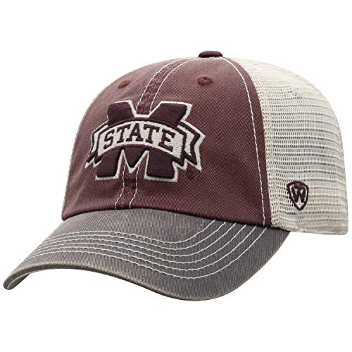 Top of the World Adult Unisex's Offroad Snapback Mesh Back Adjustable Hat, Mississippi State Bulldogs Maroon, One -