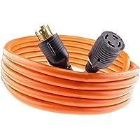 Nema L14-30 50 feet Generator Power Cord 4 Wire 10 Gauge 125/250v 30 Amp 7500 watts