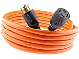 MPI Tools Nema L14-30 40 feet Generator Power Cord 4 Wire 10 Gauge 125/250v 30 Amp 7500 watts