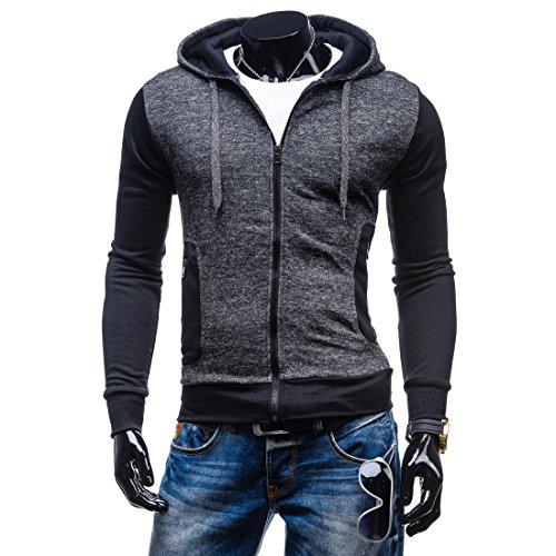 Film Strip Long Sleeve Shirt (Mada Men's Drawstring Zip-up Hoodies Long Sleeve Sportwear Jacket Asian)