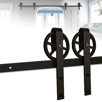 182CM/6FT puertas acero puerta corrediza de granero Hardware Herraje para Puerta de Granero Corredera