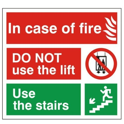 In Case of Fire Do Not Use the Lift Sign 150mm x 150mm – Rigid Plastic (FEX.18H-RP) UK Safety Store