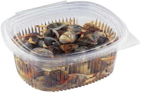 VIRSUS 50 Vaschette ovali in Pet vaschette Trasparenti 500cc con Coperchio Unito Contenitori di plastica Rigida con Chiusura ermetica