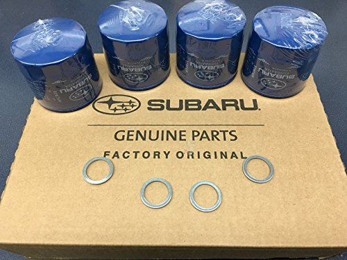OEM Factory Subaru Engine Oil Filter & Crush Gasket (4 Pack) 15208AA12A Genuine 1990-2018
