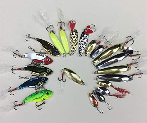 MUUZONING 21 pcs Profesional Kits de señuelo de Pesca Suave Cebo ...