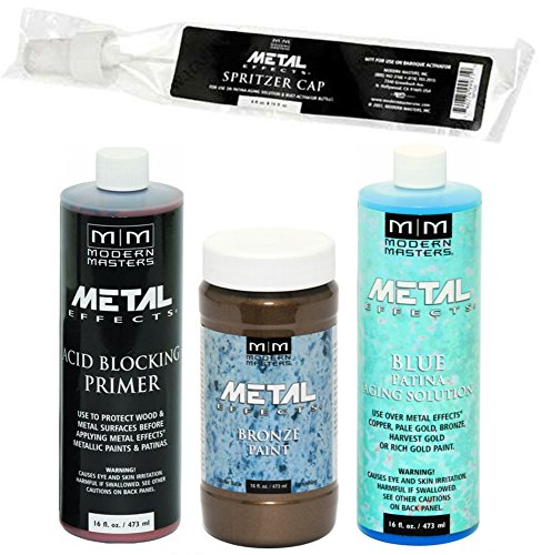 (Modern Masters Metal Effects Bronze Paint and Blue Patina Kit (16-Ounce))