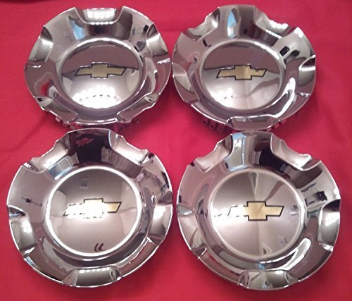 (4pcs 07-13 Chevrolet Silverado Tahoe Avalanche Suburban Wheel Hub Center Caps Chrome Finish)
