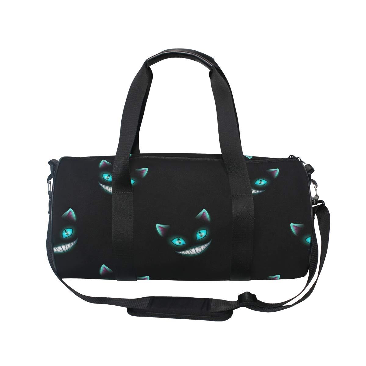 Mnsruu - Bolsa de Deporte para Gimnasio, diseño de Caras de Gato, Color Negro: Amazon.es: Deportes y aire libre