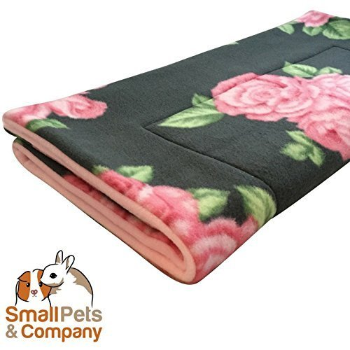 Small Pets and Company Guinea Pig Fleece Cage Liner |Fleece Guinea Pig Bedding |Midwest, C&C, Corner Pad (Midwest, Roses) by Small Pets and Company