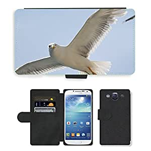 GoGoMobile Flip PU Leather Wallet Case with Credit Card Slots // M00118297 Seagull Fly Sun Flight Wing Feather // Samsung Galaxy S3 S III SIII i9300