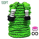 GD-LIVE Garden Hose 100 FT Garden Hose with Triple Layer Latex Core & Latest Improved Extra Strength Fabric Protection Expanding Garden hose for All Your Watering Need