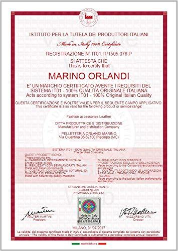 Marino Orlandi Italian Designer Jungle Metallic Glitter Leather Ziparound Wallet Clutch by Marino Orlandi (Image #5)