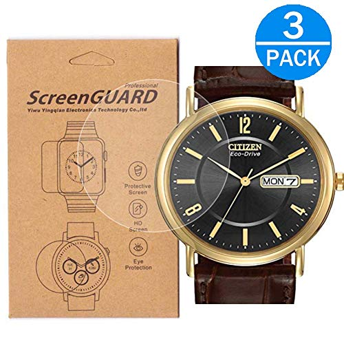 - [3-Pack] for Citizen BM8242-08E Watch Screen Protector,Full Coverage Screen Protector for BM8242-08E Watch HD Clear Anti-Bubble and Anti-Scratch