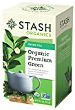 Stash Tea, Organic Premium Green Tea, 18 Count Box of Tea Bags Individually Wrapped in Foil (Pack of 6), Medium Caffiene Tea, Japanese Style Green Tea, Hot or Iced